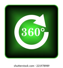 Reload 360 icon. Internet button on white background.