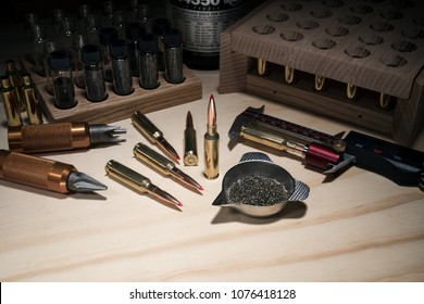 Reloading Rifle Ammo On Workbench