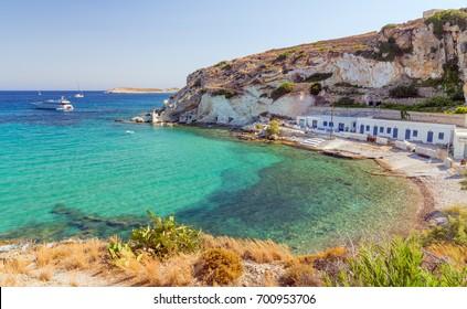 Rema beach, Kimolos island, Cyclades, Greece