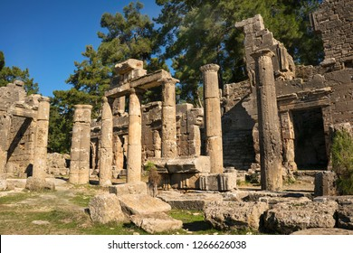 the remaining from ancient city Lyrbe (seleucia), Manavgat, Turkey