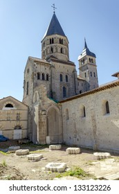 Remaining bell tower of Cluny III abbey.