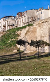 The remaining historic buildings and city walls of Constanta Romania