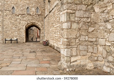 Remaining historic walls circling the old town