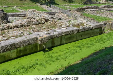 The remainings of the docks of the ancient harbour of the roman city of Aquileia in Italy
