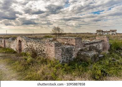 Remains of ancient castle Histria, Romania