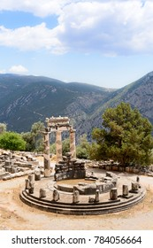 Remains of ancient Greek Sanctuary of Apollo, Delphi, Greece