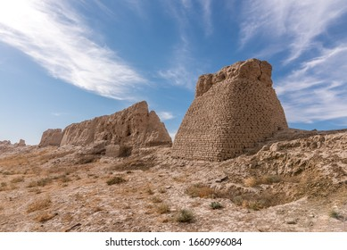 Remains of ancient (medical) walled city Sauran or Sawran north-west of the city of Turkistan in Southern Kazakhstan, near the river Syr Darya. - Shutterstock ID 1660996084
