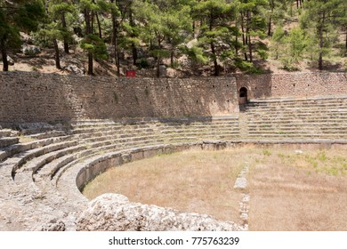 remains of ancient  stadium at Delfi , Greece