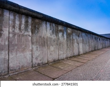 Remains of the Berlin Wall. The Berlin Wall (Berliner Mauer) in Germany