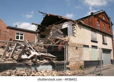 remains of a building which had collapsed