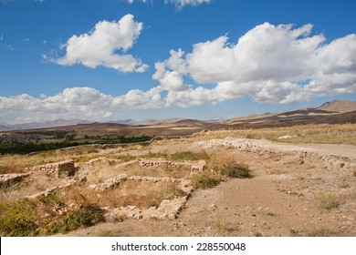 Remains of buildings of the ancient inhabitants of the mountains in the valley of the Middle East