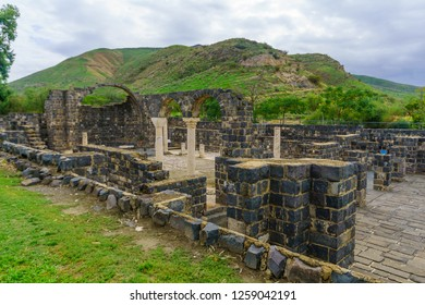 Remains of a Byzantine monastery, in Kursi National Park, Golan Heights, Northern Israel. Identified as Gergesa (Miracle of the Swine)