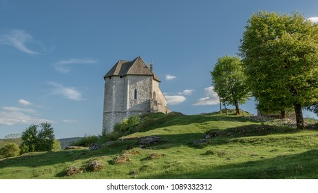remains of the church in the fort Sokolac in the village of Brinje, Lika region, Croatia