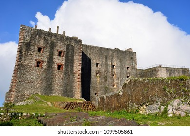 Remains of the French Citadelle la ferriere built on the top of a mountainnear Milot city in Haiti