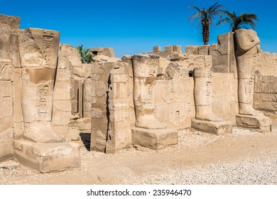 Remains of the Karnak temple, Luxor, Egypt (Ancient Thebes with its Necropolis). UNESCO World Heritage site