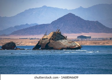 The remains of the Loullia on the northern edge of Gordon Reef in the Straits of Tiran near Sharm el Sheikh, Egypt