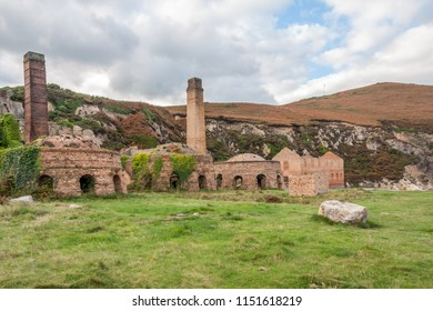 Remains of machinery, Porth Wen brickworks, Anglesey, Wales, United Kingdom