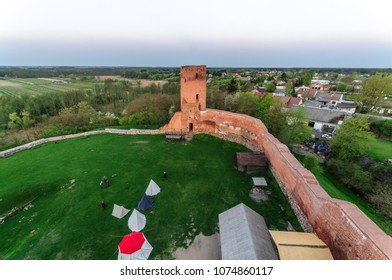 Remains of the Mazovian Duke Castle in Czersk (Poland) - views from tower