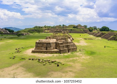 remains of monte alban in oaxaca area