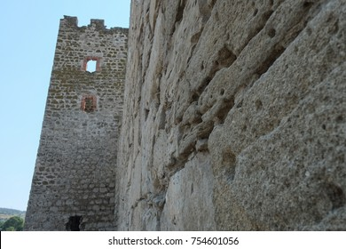 The remains of the old fortress wall. Crimea.