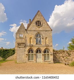 Remains of the old royal castle in the royal park of Senlis, Oise, France,