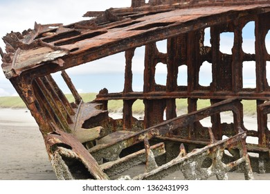 The remains of Peter Iredale ship wreck on Oregon coast