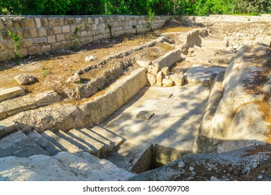 The remains of a roman bathhouse in Emmaus-Nicopolis, Israel