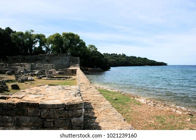 remains of a roman villa in the national park Brioni, Croatia
