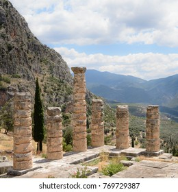 Remains of Sanctuary of Apollo, Delphi, Greece