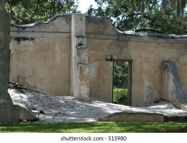 Remains of slave hospital on the grounds of exclusive Sea Island Resort, GA.
