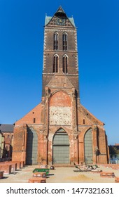 Remains of the St. Mary's church in Wismar, Germany