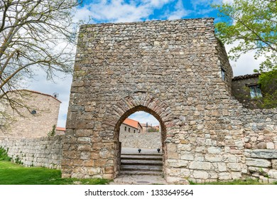 Remains of the surrounding Arab wall around the historical village of Medinaceli in Soria, Spain.