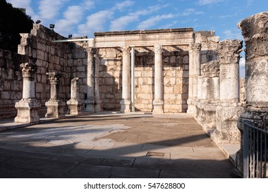 Remains of the White Synagogue in Capernaum (Cafarnaum).