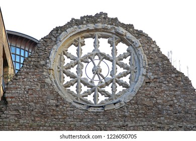 Remains of Winchester Palace Showing Rose Window at Southwark in London