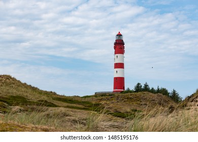 Remarcable light house of Amrum (Oomram) in Northern Germany at Northern See