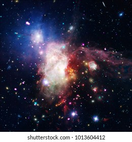 Remarkable galaxy. Stars, nebula, space gas. The elements of this image furnished by NASA.