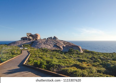 Remarkable Rocks, located on the Kangaroo Island, South Australia in a beautiful sunny day