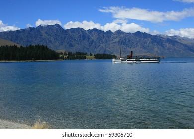 The Remarkables mountain range in Queenstown, New Zealand's adventure capital