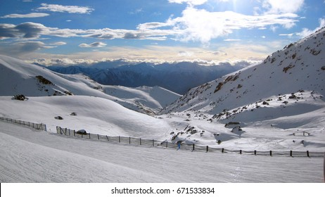 The Remarkables, skislope New Zealand.