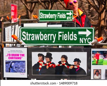 Remember John Lennon and the Beatles at Central Park - New York NY - USA - April 1 2018