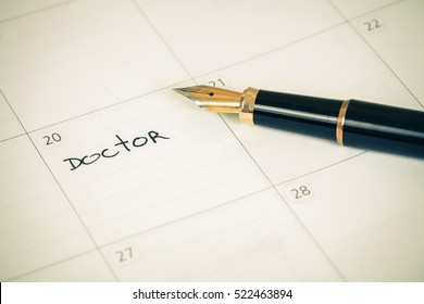 """Reminder """"Doctor appointment"""" in calendar"""