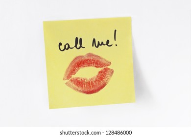 Reminder note - Call me