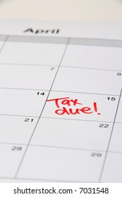 Reminder on the calendar of date to pay tax by