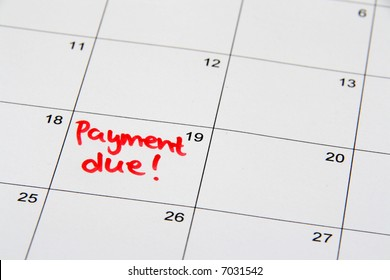 Reminder on the calendar of a due payment