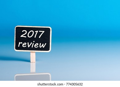 Reminder to prepare an annual report - 2017 review. New year 2018 - Time to summarize and plan goals for the next year. Business background, mockup