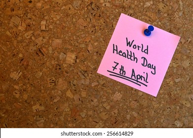 Reminder for the World Health Day which is held on 7th April every year