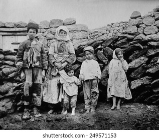 Remnant of Armenian family during the WW1 era Genocide. Ca. 1915-19.