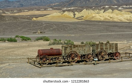 Remnants of a 20 Mule Team wagon at Death  Valley N.P.