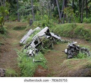 Remnants of a Japanese WWII plane in Matupit, Rabaul, Papua New Guinea.