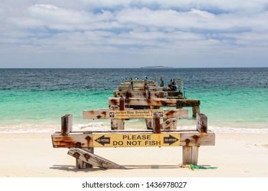 Remnants of the Old Jetty - Jurien Bay, WA, Australia